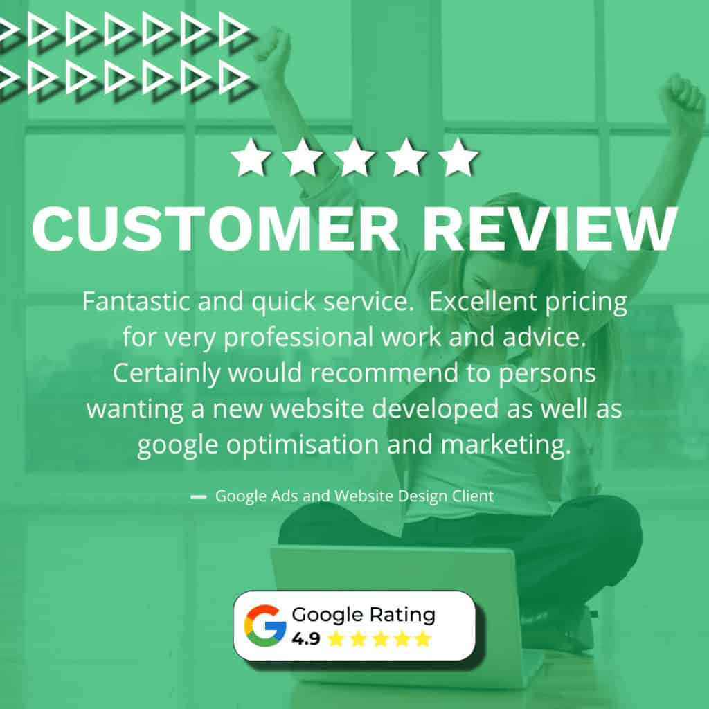 Customer Review - Google Ads Green